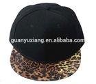 black SnapBack hat with Sexy Leopard flat brim