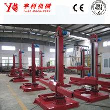 Vessel seam welding column and boom