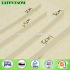 1-5cm Soft latex foam rubber padding sheet and roll