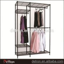 Steel household flooring shelves expandable clothes rack