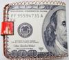 Fashion USA cheap gift pvc 100 dollars stylish purse