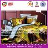 factory price polyester fashion animal printed polyester king size 3D bedding set