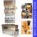 Acero inoxidable eléctrico automático de pizza de queso, Pizza máquina de cono, Helado que hace la máquina