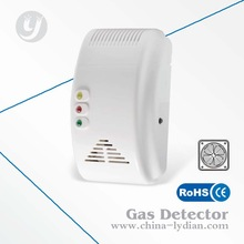 AC power combustible lpg gas leak detector alarm work with fan high sensitivity