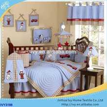European Style Cotton Crib Baby Bedding Set hot sales cotton patchwork comforter