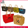 Custom jute tote bag with pu leather handle, jute tote bag with leather handle , jute tote shopping bag manufacture