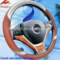 HL13B006 3D carbon fiber steering wheel cover 2014 hot sale design China auto accessories