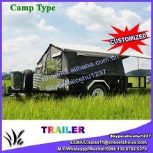 Outdoor Galvanized tent Australia camping trailer with tent