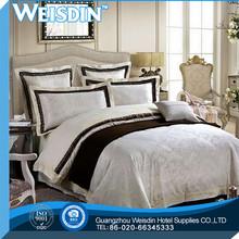 white hot sale plaid leopard and tree leaf design brushed bedding set