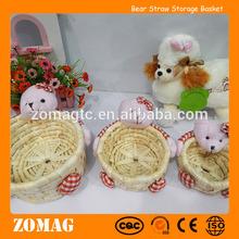 sevimli üç ayı mısır kepeği dekoratif sepet