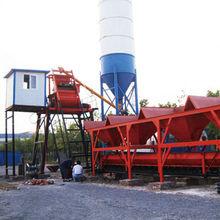 60m3/h precast concrete mixing plant with cement silo