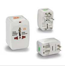 All in One universal international travel power plug adapter with surge protector