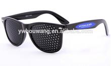 Latest Wayfarer Pinhole Glasses Custom Logo Eye Protect Necessity