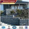 stone cage box, stone mesh cages price, PVC coated galvanized stone cage retaining wall