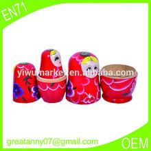 Alibaba china wholesale market customized wooden Russian Nesting Doll Toy Russian Doll Wishing Dolls matryoshka
