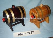 Decorative mini Brass Hoop carving logo wooden Barrel for Wine beer