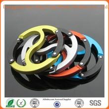 Hua Xing Yong Popular aluminium design and promotional round carabiner