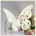grossista branco papel de laço borboleta copo cartões para vinho de vidro decoração