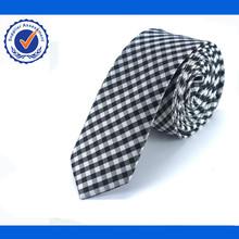 Small Check Pattern Silk Tie