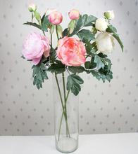 High quanlity 2 heads peony artificial flowers wedding bouquet decoration