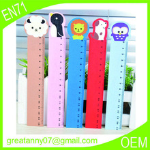 2015 newest design OEM brand cartoon ruler wooden gifts useful Children wholesale