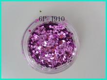 Lulu Nail Hexagon Glitter Powder free art supply sample nail kit acrylic