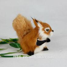 cute nice cheap realistic furry plush christmas miniature fake squirrel