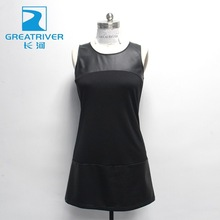 women pu dress ladies faux leather synthetic lady fake girl imitation pu leather dress casual artificial urban cool fashion
