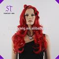 10 anos bela estrela vermelha peruca de cabelo para as mulheres bonitas