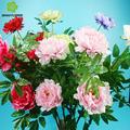 seda artificial peônia flores para floresdecorativasecorôas de flores