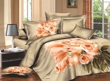 China supplier 100% cotton reactive 3d brand bedding sets sale