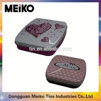 square portable tea packing tin box wholesale