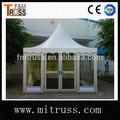 estrutura de alumínio barraca parede de vidro