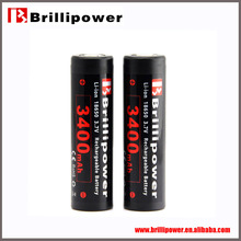 Wholesale price 18650 3.7V 3400mAh Rechargeable/battery li-ion