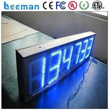school digital time clock led time temperature sign make led display board led time and temperature display