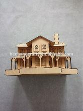 Nuevo diseño de madera de keychain del birdhouse