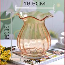 antique glass vases 25cm 30cm 35cm clear glass cylinder vase