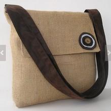 2015 New Design Fashion Yellow Straw Burlap Casual Shoulder Bag with Strap Handbag Wholesale in China Shoulder Bag LF0171