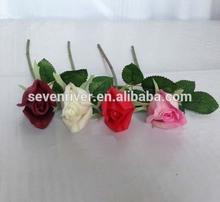 2015 Fashion beautiful high hand-feeling PU artificial flower rose factory