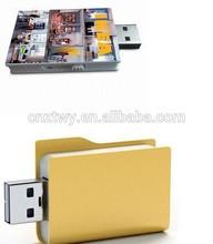2014 new book shape usb flash drives, plastic book usb flash, custom your logo on book usb
