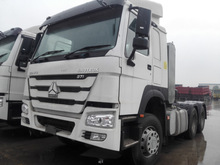Top sale HOWO 4*2 tractor truck white color, 315/80R22.5 tyre