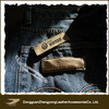 embossed jeans leather label with logo you want