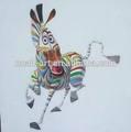 venta al por mayor más nuevo diseño de cebra abstracto pintura al óleo de xiamen