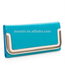 Wholesale Korea ladies fashion genuine leather purses elegant hand bags wallets