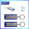 Wholesale Car Insurance Promotional gift Custom logo plastic pvc keyring with removable rings