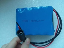 rechargebale 18650 16v 1000mah li ion battery pack with charger for LED lights
