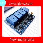 MCU development board 4 road relay expansion board support AVR 51 / PIC / 4 road relay module
