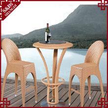 fancy rattan furniture high back rattan coffee table and chair rattan bar chair