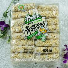 400g peanut flavor puffed rice and highland barley cracker