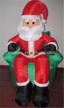 newest style Christmas inflatable santa/giant inflatable decoration/santa sitting on a sofa
